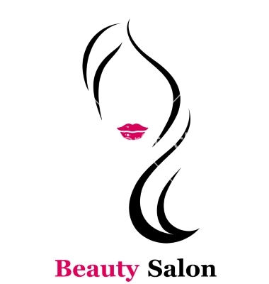 Elegant Silhouette Greeting Card Design With Ilration Of Young Fashion Pro Beauty Salon